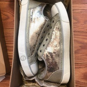 UGG Silver Sparkle Sneakers USA Size 10